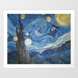 Starry Night in the TARDIS 2.0 Art Print