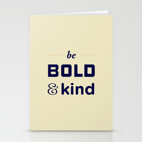 Be Bold Stationery Cards
