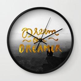 Dream On Dreamer Wall Clock