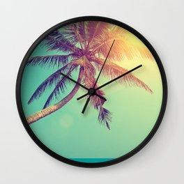 Palm Tree in Sri Lanka Wall Clock