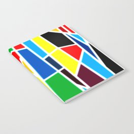 Geometric Shapes - bold and bright Notebook
