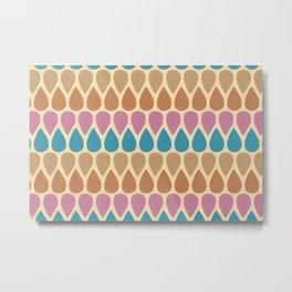 Tear drop pattern - warm tone palette  Metal Print
