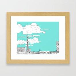 Tokyo Sky Tree Framed Art Print