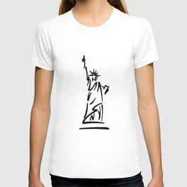 Lady Liberty Blue T-shirt