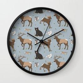 Rocky Mountain Critters Wall Clock