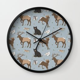 Rocky Mountain Critters Wall Clock