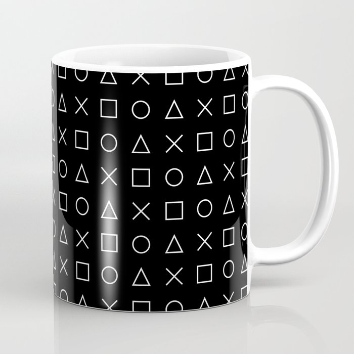 Mug Gamer Dotsandlines99 Gaming And Design Pattern Black White Coffee By HeWE29IDY