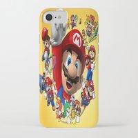 super mario iPhone & iPod Cases featuring super mario  , super mario  games, super mario  blanket, super mario  duvet cover, super mario  show by ira gora