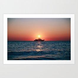 Cape May Sunset Cruise Art Print