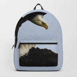 The Descent - Bald Eagle Wildlife Art Backpack