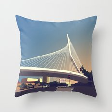 Calatrava Bridge Jerusalem Throw Pillow
