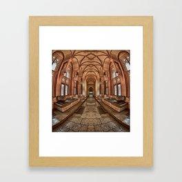 Inside the Polish Castle Framed Art Print