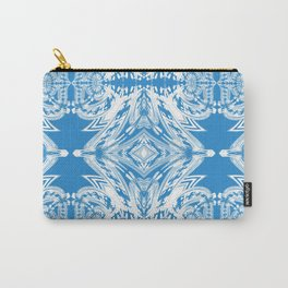 Blue and White Classy Psychedelic Carry-All Pouch