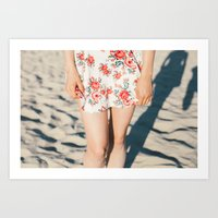 Flower Dress Art Print