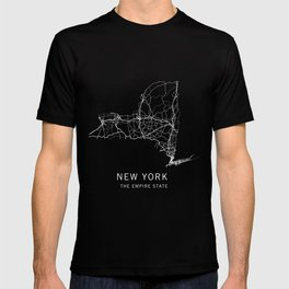 New York State Road Map T-shirt