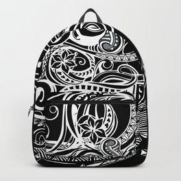 Black And White Hawaiian Tribal Backpack