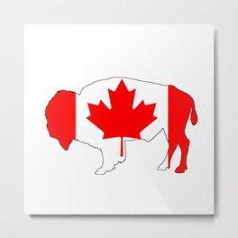Canada Bison Metal Print