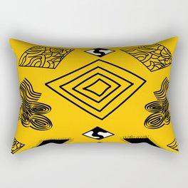 Yellow and Black Diamonds Rectangular Pillow