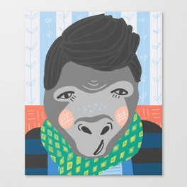 A Very Gentrified Gorilla Print Canvas Print