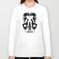 psychology Long Sleeve T-shirts featuring Samus Aran Metroid Geek Psychological Diagnosis Ink Blot  by Barrett Biggers