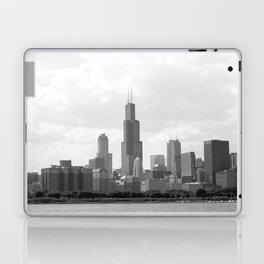 Chicago Skyline Black and White Laptop & iPad Skin