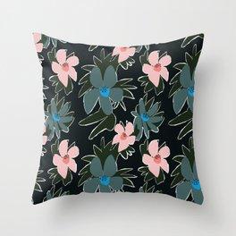 Forest Florals Throw Pillow