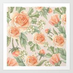 Flowered nature Art Print