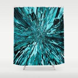 broken glass sea Shower Curtain