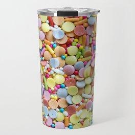 Rainbow Candy Sprinkles Art Travel Mug