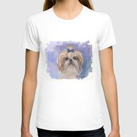 shih tzu T-shirts featuring Shih tzu  by Michelle Behar