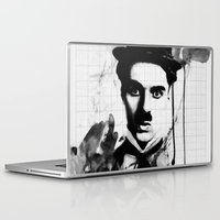 charlie chaplin Laptop & iPad Skins featuring charlie chaplin 03 by manish mansinh