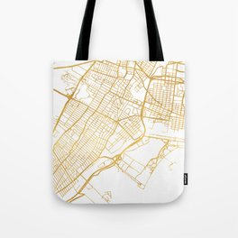 JERSEY CITY NEW JERSEY STREET MAP ART Tote Bag