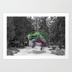 Unseen Monsters of Mount Shasta - Greshlib Tanquid Art Print