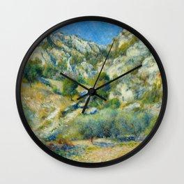 "Auguste Renoir ""Rocky Crags at L'Estaque"" Wall Clock"