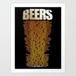 Beers types Art Print