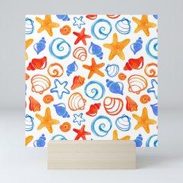 Colorful Coastal Shells Mini Art Print