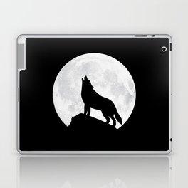 Howling Wolf - Moon Laptop & iPad Skin