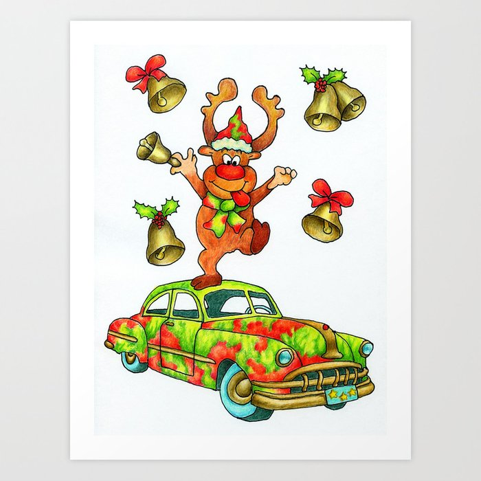 Jingle Bells by Monica Hulsing Art Print