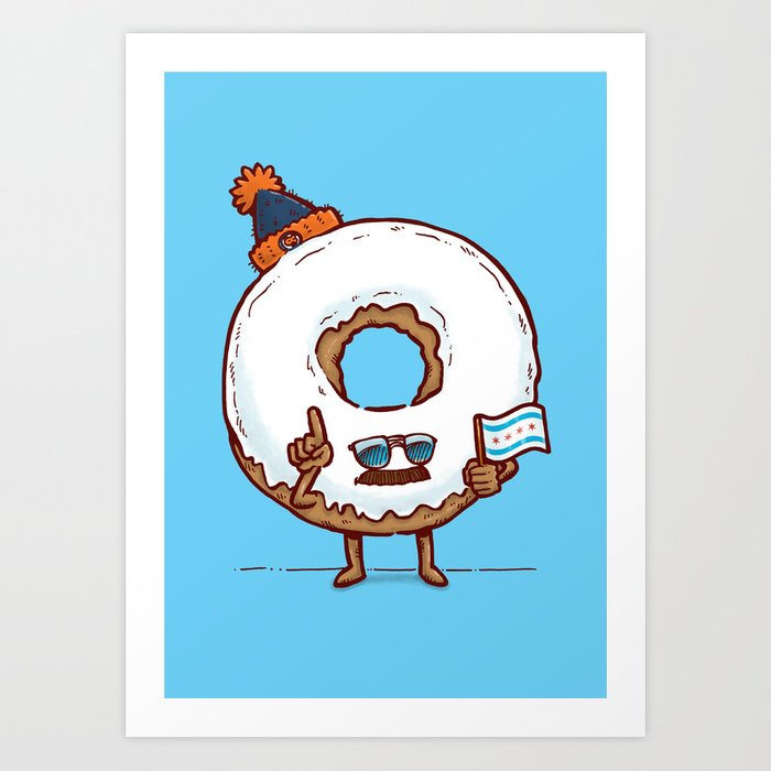 The Chicago Donut Art Print
