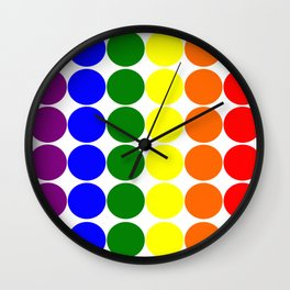 Round circles with gay rainbow colors Wall Clock