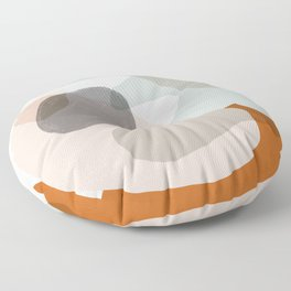 Shapes and Layers no.15 - soft neutral colors Floor Pillow