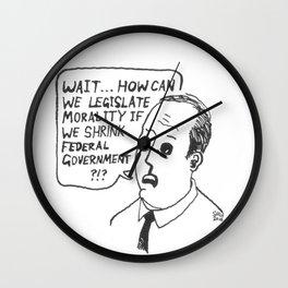 Mr. Right's Conundrum Wall Clock