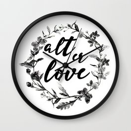 alt er love floreal Wall Clock
