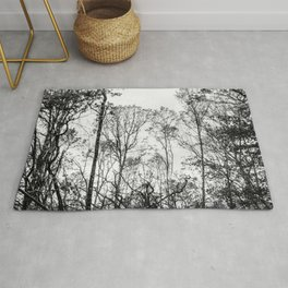 Black and white tree photography - Watercolor series #5 Rug