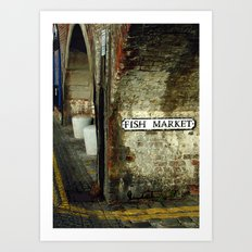 Folkestone Fish Market Art Print