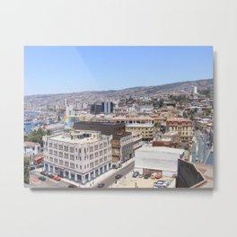 View of Valparaiso, Chile Metal Print