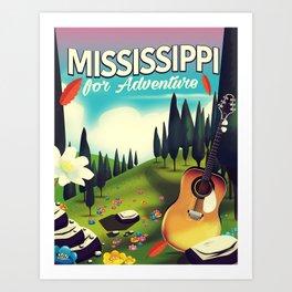 Mississippi For adventure Art Print