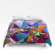 Festive colorful crystals Comforters