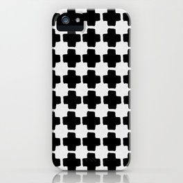 Black and White Abstract III iPhone Case