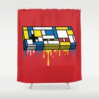 gaming Shower Curtains featuring The Art of Gaming by Mike Handy Art